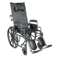 McKesson Reclining Wheelchair and Detachable Desk Arms - 20-Inch Seat Width, 350 lbs. Capacity - 1 Each / Each - 20324201
