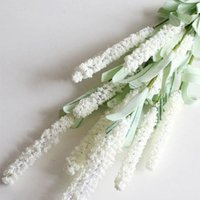 AkoaDa  1 Bouquet of 12 Head Lavender Flower Arrangement Nearly Natural Fake Plant to Brighten up Your Home Party and Wedding Decor