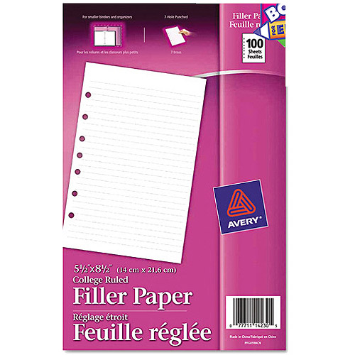 Avery Mini Binder Filler Paper