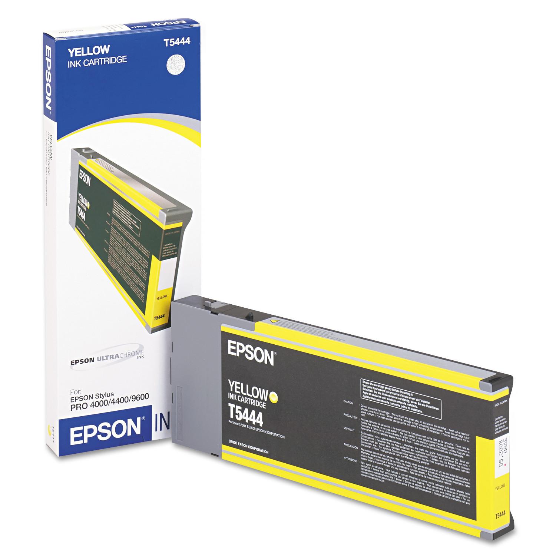 Epson T544400 Yellow Ink Cartridge for Epson Stylus Pro 4000/4400/9600 Inkjet Printers