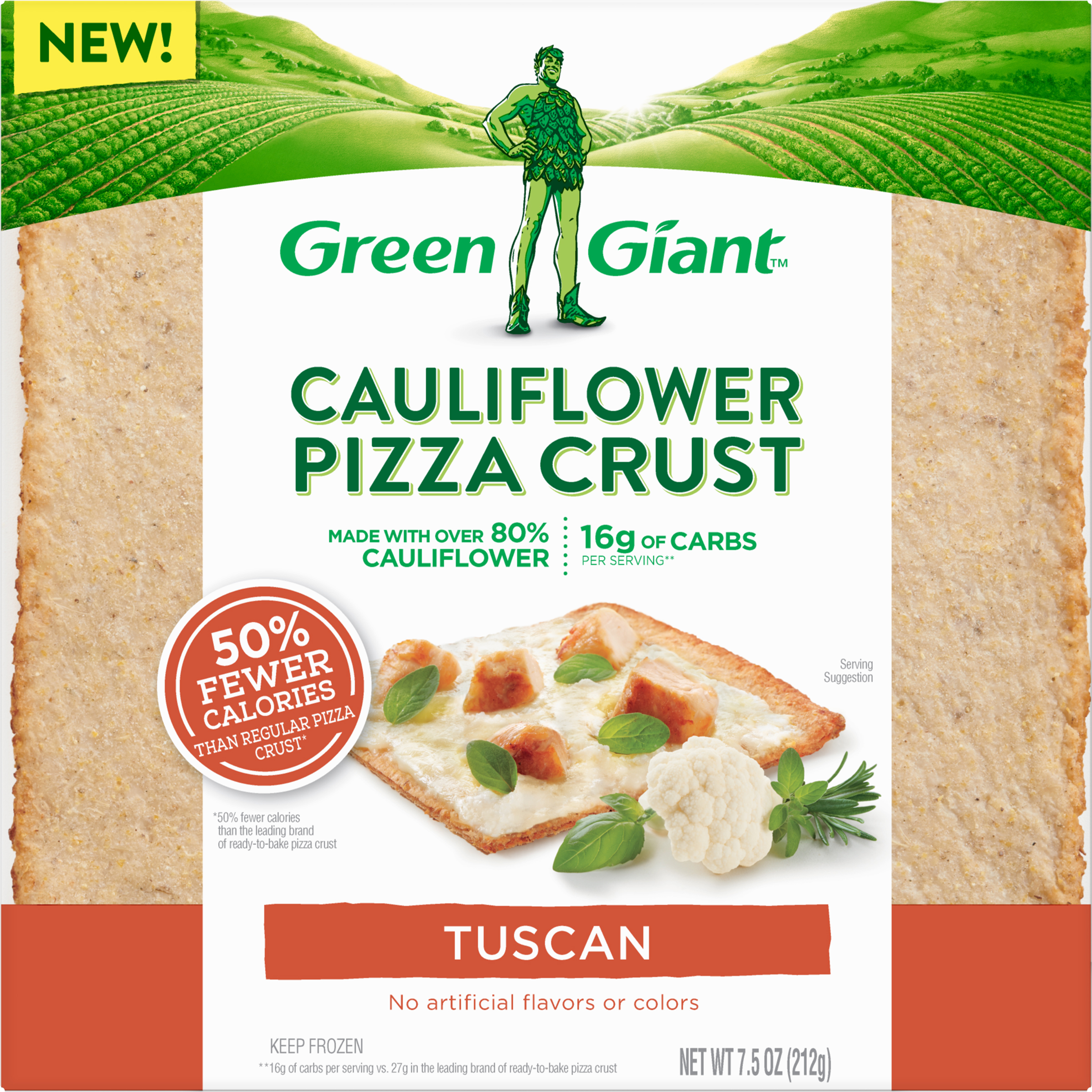 Green Giant Tuscan Cauliflower Pizza Crust, 7.5 oz
