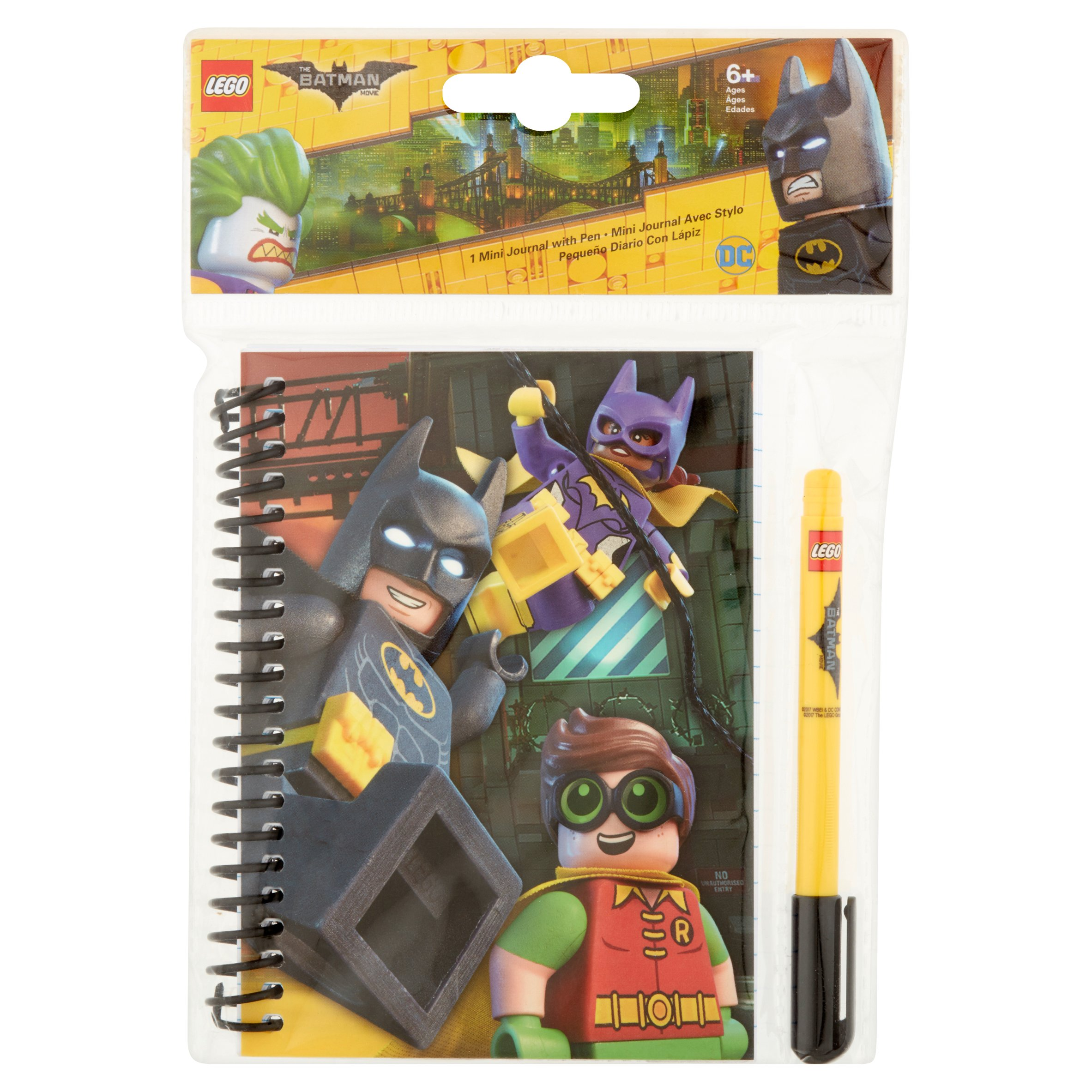Lego DC The Batman Movie Mini Journal with Pen 6+ Ages