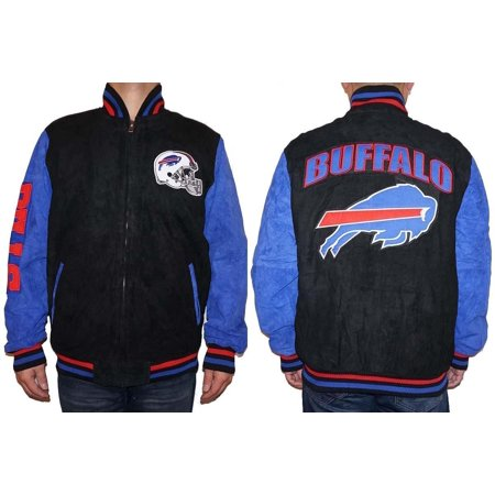 Buffalo Bills NFL Men's Zipper Front Suede Jacket