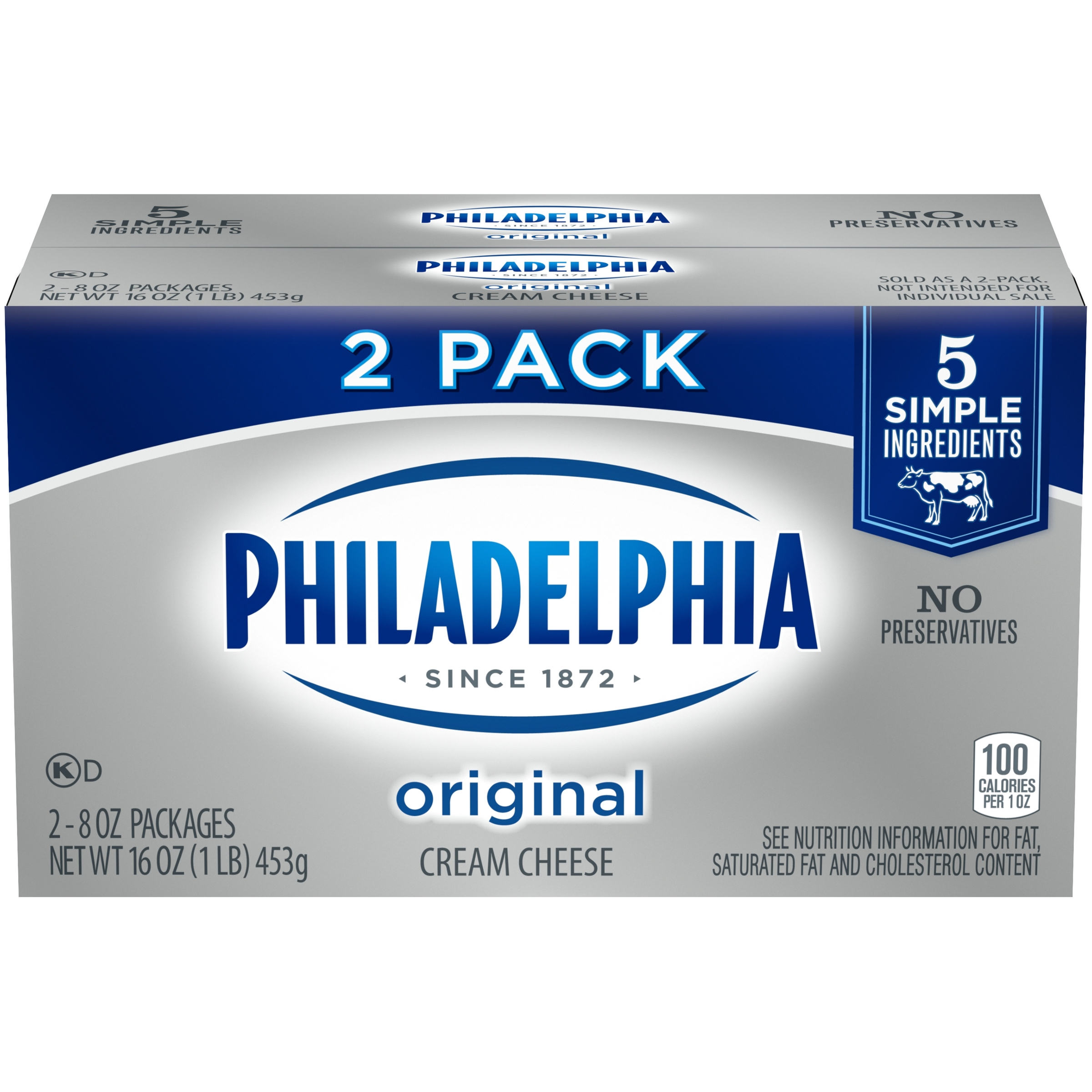 Philadelphia Original Cream Cheese 2-8 oz. Packs