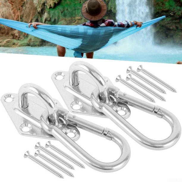 Heavy Duty Rope Chair Chain Hanging Kit Garden Swing Tree Hammock Mount Hooks Walmart Com Walmart Com