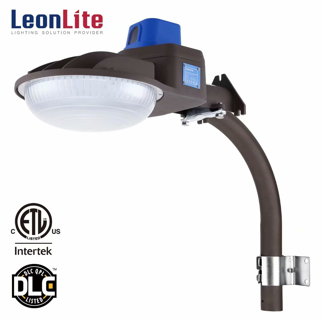 LEONLITE 75W Security Lights, Outdoor LED Flood Light, LED Outdoor Barn Light for Entryways, Patios, Decks, Stairs, 5000K Daylight, Brown