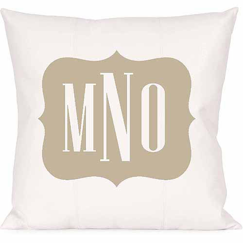 Personalized Framed Monogram Pillow