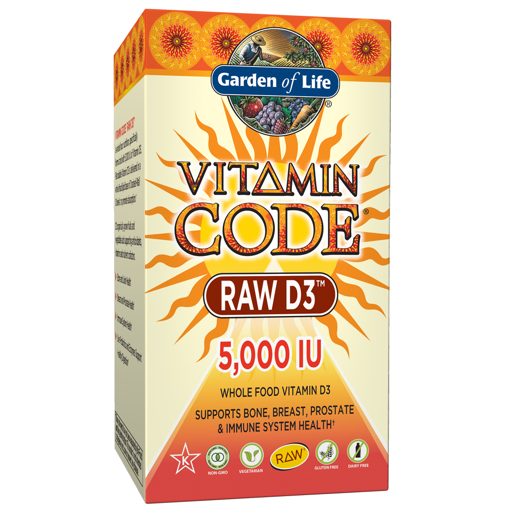 Garden of Life Vitamin Code Raw D3™ 5000 60 Capsules