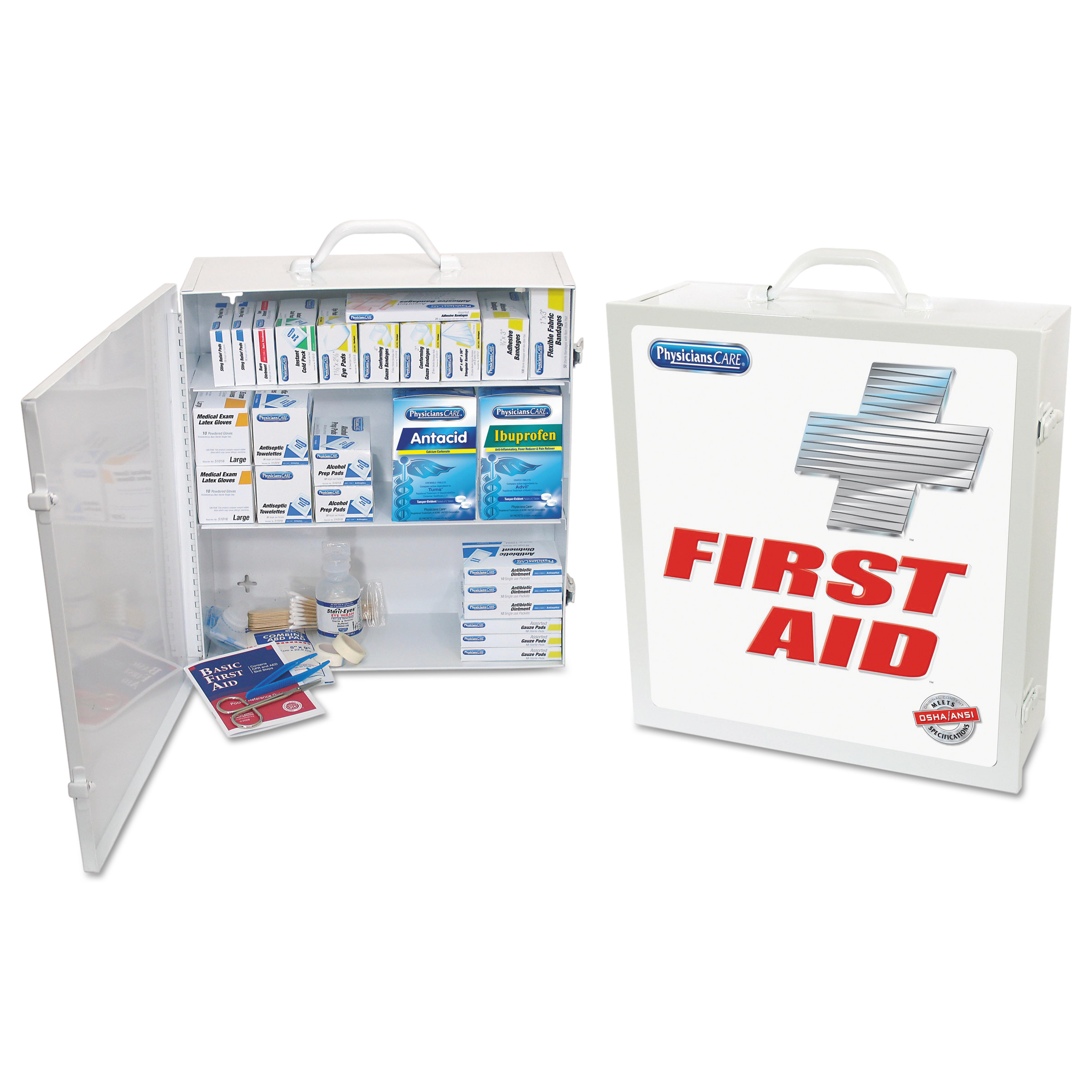 PhysiciansCare by First Aid Only Industrial First Aid Kit for 100 People, 721 Pieces/Kit