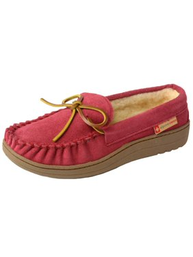 421a06899 Product Image Alpine Swiss Sabine Womens Suede Shearling Moccasin Slippers  House Shoes Slip On