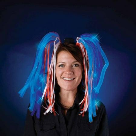 Light Show Blue LED Dreads Costume Headband - image 1 of 1