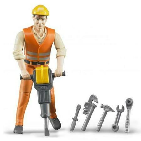 Bruder Construction worker with - Railroad Worker Figures
