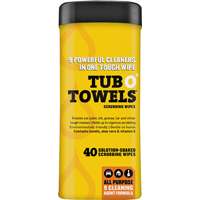TUB O'TOWELS CLEAN WIPES 40CT