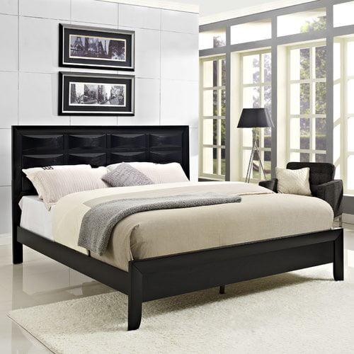 Modway Harrison Wood Panel Headboard Bed Multiple Sizes