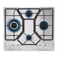 """Empava 24"""" Stainless Steel 4 Italy Imported Sabaf Burners Stove Top Gas Cooktop EMPV-24GC4B67A"""