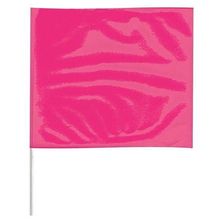 Value Brand Marking Flag, Fluorescent Pink, 3LVH1