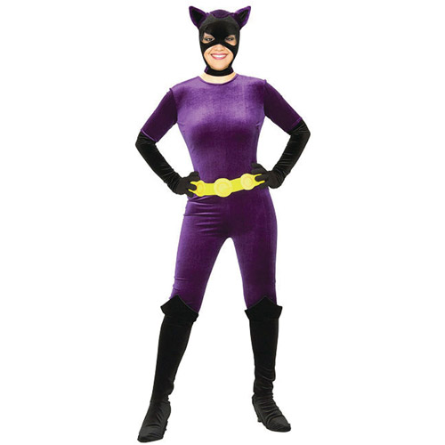 Catwoman Gotham Girls Adult Halloween Costume  sc 1 st  Walmart : catwoman costume for little girl  - Germanpascual.Com