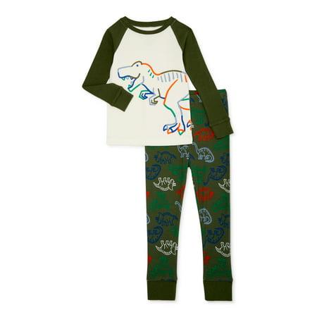 Wonder Nation Toddler Boys' Dino Sleep Set