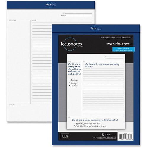 Tops Focus Notes Legal Pad