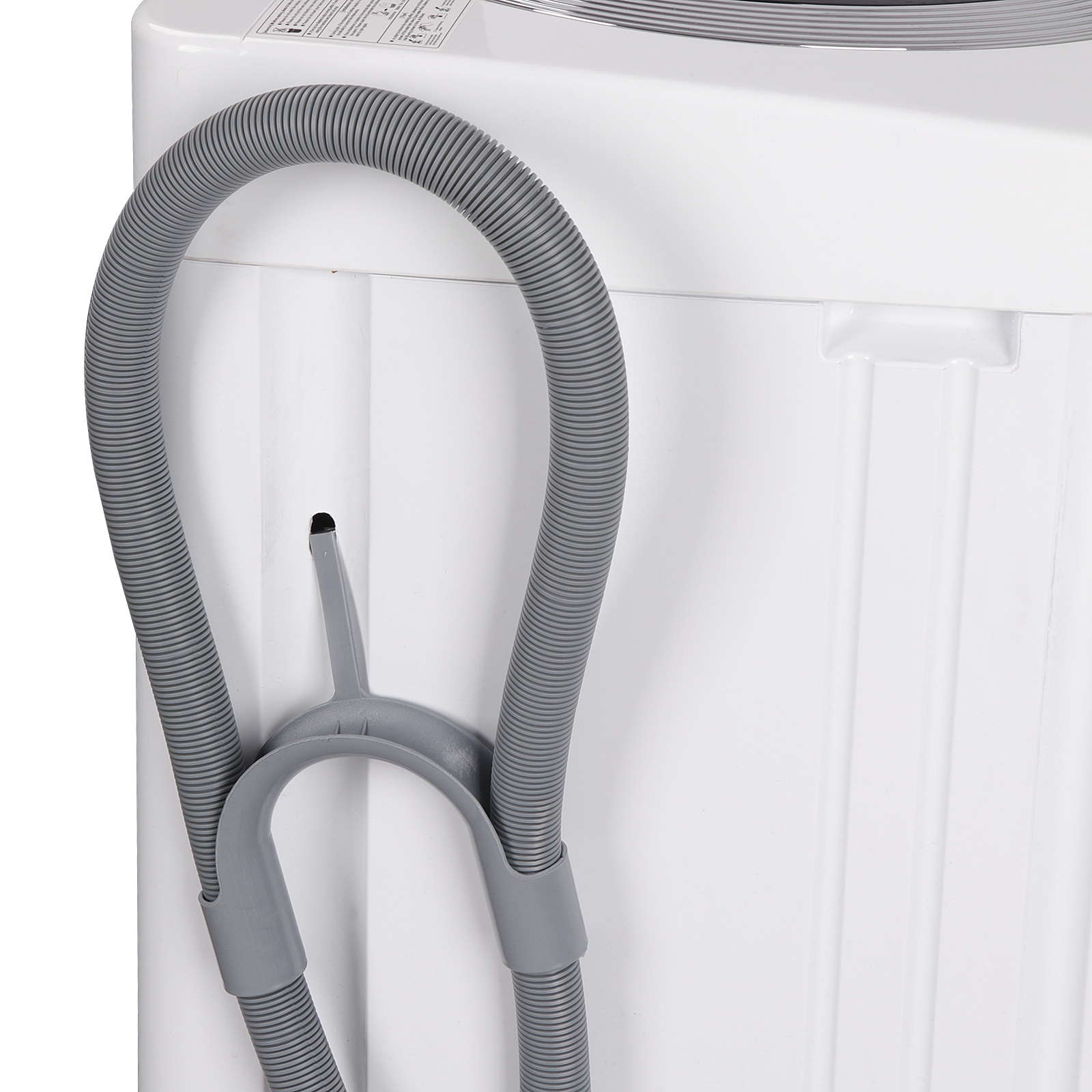Zeny Portable Full-Automatic Washing Machine 1 6 Cu  ft  Spacious Load 2in1  Washer&Spinner w/Drain Pump and Long Hose