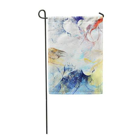 POGLIP Multicolored Splash Abstract Beautiful Color Dynamic Painting Modern Futuristic Garden Flag Decorative Flag House Banner 12x18 inch - image 1 de 1