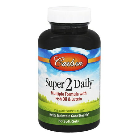 Carlson Labs - Super 2 Daily Multiple Formula with Fish Oil & Lutein - 60