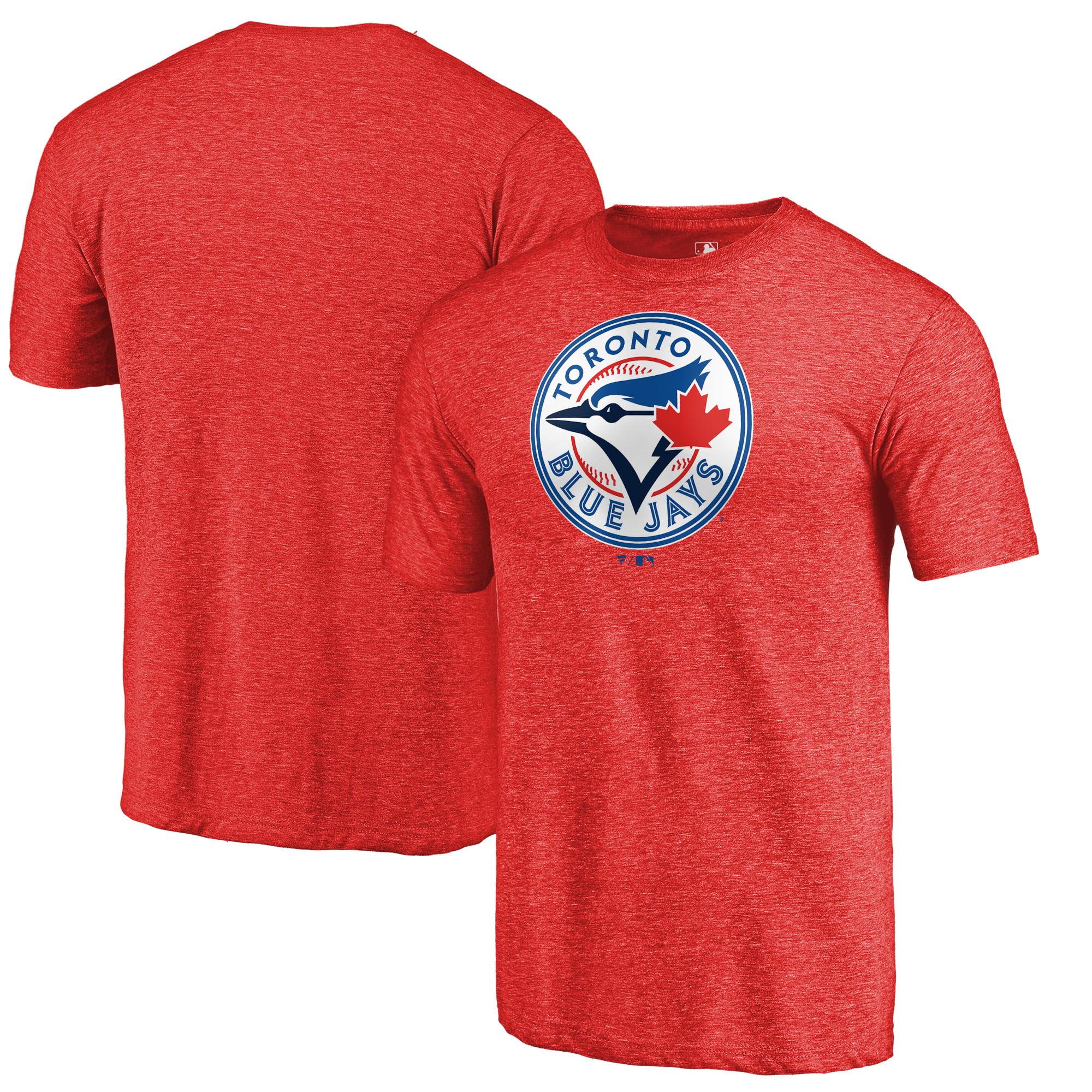 Toronto Blue Jays Fanatics Branded Team Wordmark Tri-Blend T-Shirt - Red