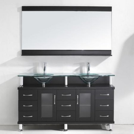 VIRTU USA Vincente Rocco 59-inch Double Sink Bathroom ...