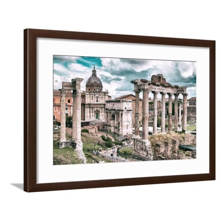 Dolce Vita Rome Collection - Roman Columns Rome III Framed Print Wall Art By Philippe Hugonnard - Plastic Roman Columns For Sale
