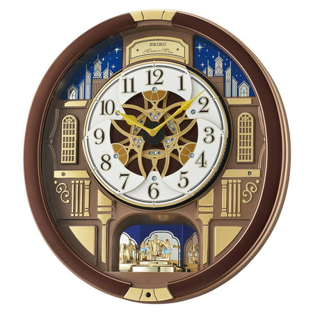 Seiko Melodies in Motion Musical Wall Clock with Rotating Pendulum