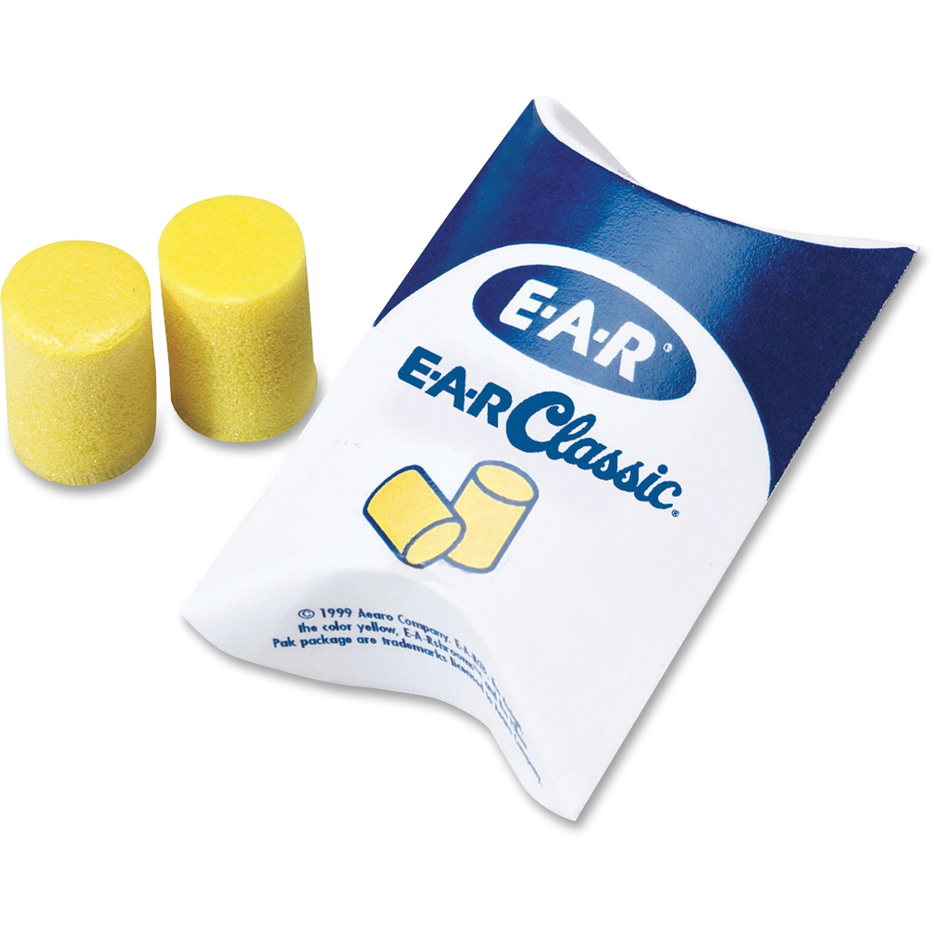 Aearo, MMM3101001, Classic Uncorded Earplugs, 200 / Box, Yellow