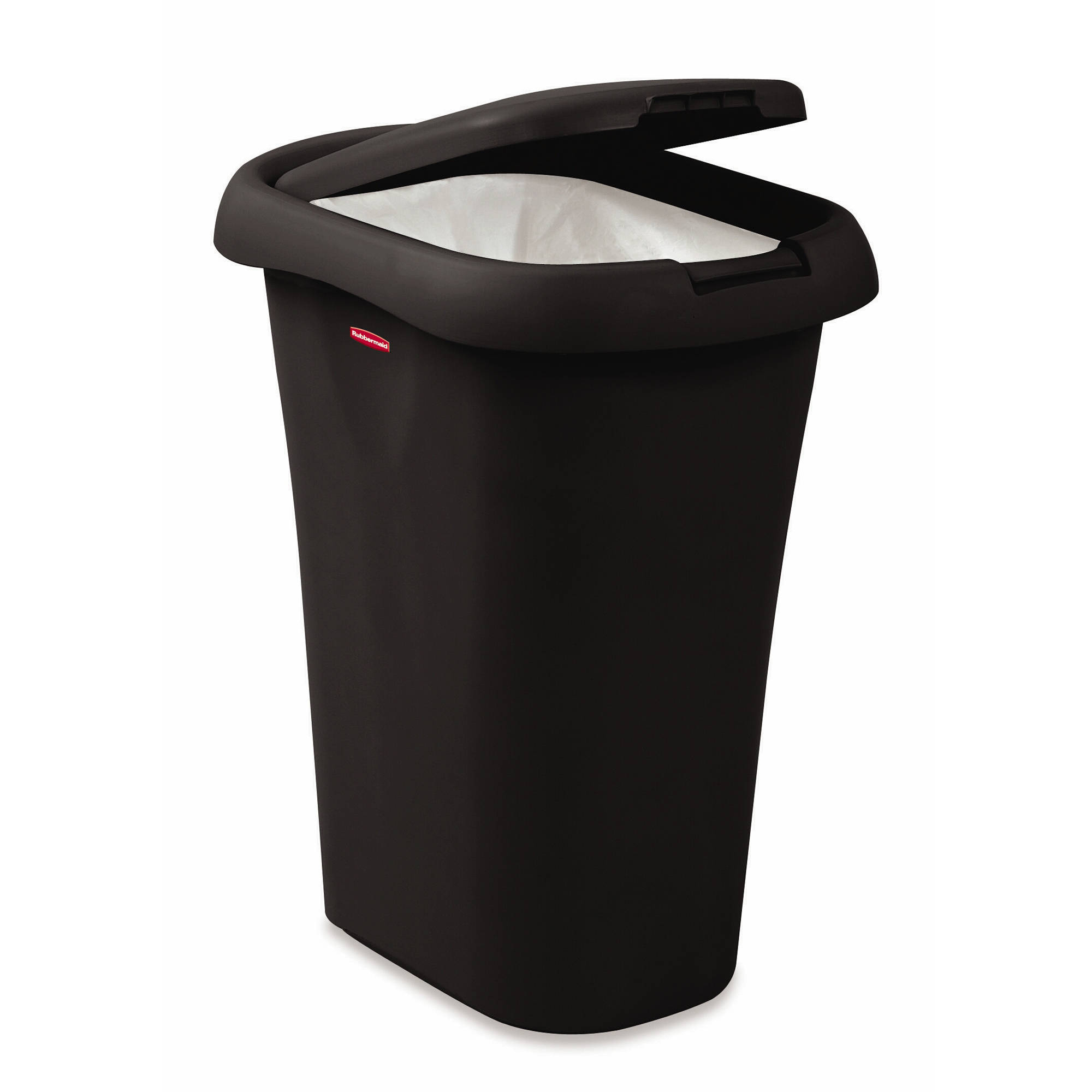 rubbermaid linerlock spring top trash can,  gal, black  walmart,Black Kitchen Trash Can,Kitchen ideas