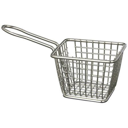 American Metalcraft Rectangular Basket - FRYT433 Stainless Steel Rectangular Fry Basket, 4