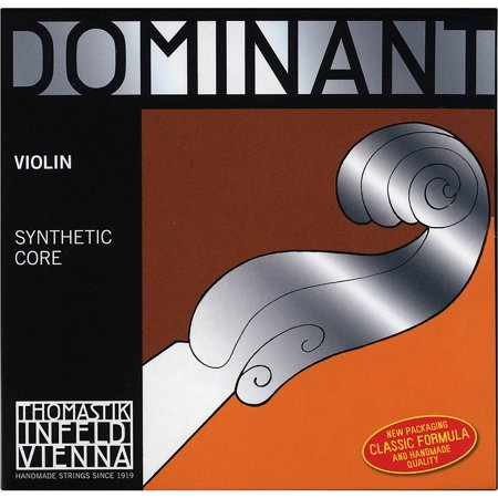 Thomastik Dominant 4/4 Size Stark (Heavy)  Violin Strings 4/4 Wound E String, Ball End (Dominant Brand Violin Strings)