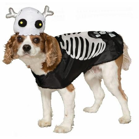 Skeleton Pet Costume Medium - image 1 of 1