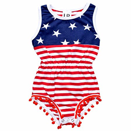 On 4th Of July Just This One Time I >> Unique Baby Girls 4th Of July Patriotic Baby Onesie Blue 18 24 Mo