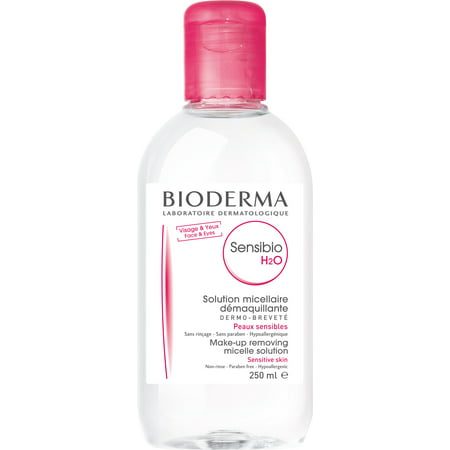 Bioderma Sensibio H2O Micellar Cleansing Water and Makeup Remover Solution for Face and Eyes- 8.33 fl. (Lid Lash Wash Makeup Remover)
