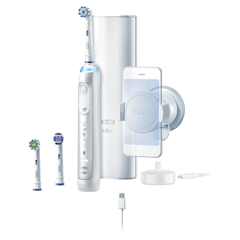 Braun Oral-b 9600 3 Brush Heads Electric Toothbrush (White)