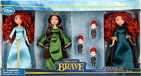 Disney   Pixar Brave Brave Mini Doll Set Exclusive by