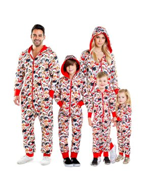 Pudcoco Family Christmas Pajamas Set Xmas Matching Pyjamas Adult Kids Sleepwear Red