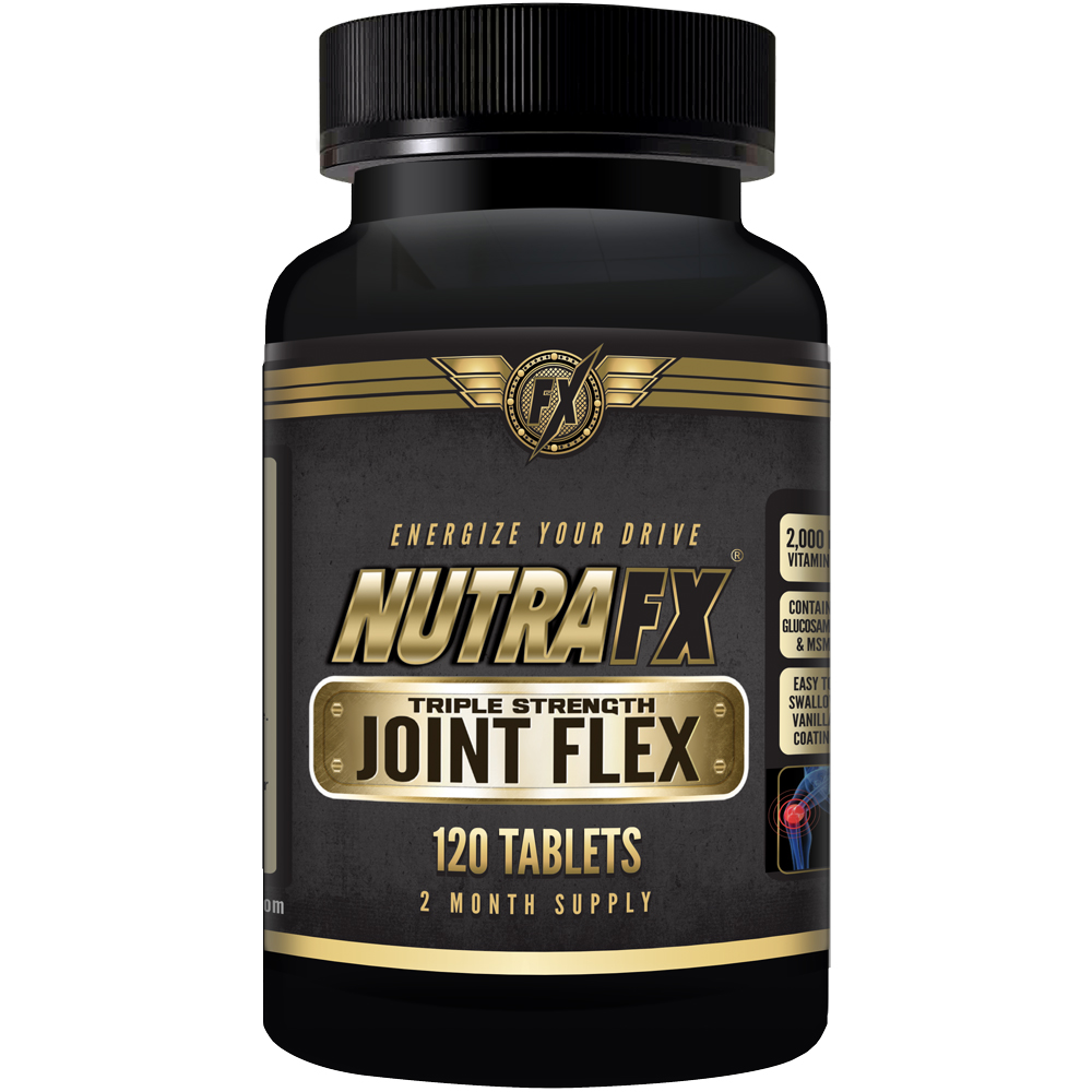 Glucosamine Chondroitin MSM, Triple Strength Joint Care with 2000IU Vitamin D3, 120 Vanilla Coated Tablets, by NutraFX