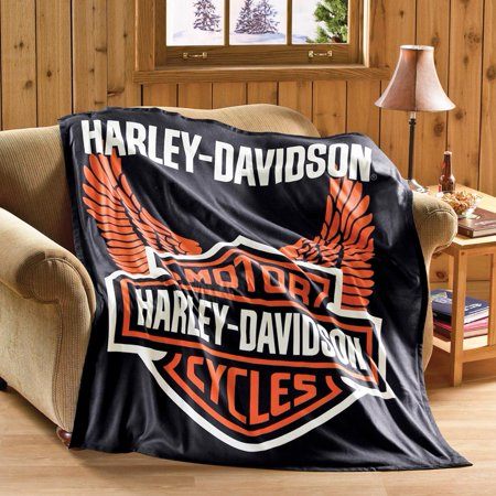 Harley Davidson Motorcycle Fleece Throw Blanket Walmart Com