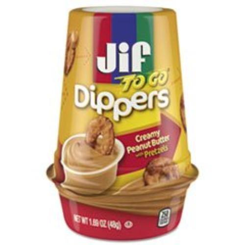 Smucker Jif To Go Pretzels/peanut Butter Dippers - Dairy-free - Peanut Butter - 8 / Carton (21018_40_1)