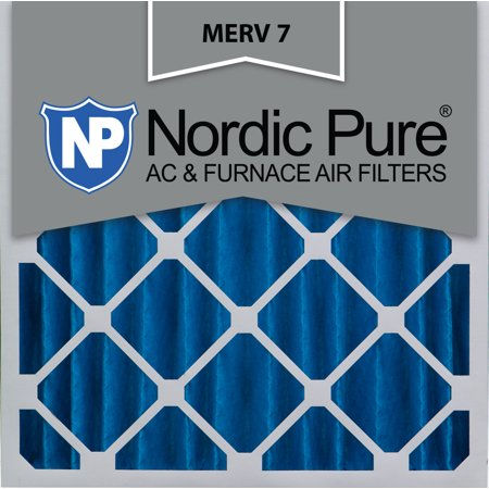 20x20x4 (3 5/8) Pleated Air Filters MERV 7 Qty 1
