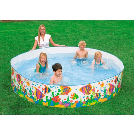 Intex 96 x 18 ocean reef snapset instant family and kids summer swimming pool for Swimming pool supplies walmart