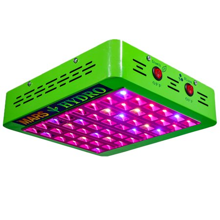LED Grow Light Mars Hydro Reflector 300W Full Spectrum IR Growth Bloom Switches Veg Flowering Cloning Indoor Hydroponic Garden Greenhouse Organic Soil Grow All Stages Plants Growth High