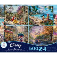 Ceaco - 4 In 1 Multipack - Thomas Kinkade - The Disney Collection - 4 In 1 Multipack Jigsaw Puzzle