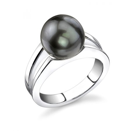 10 Mm Pearl Ring - 10mm Tahitian South Sea Cultured Pearl Kasandra Ring