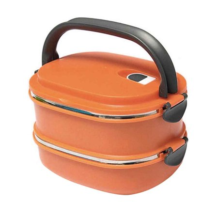 2019 New Single/Two Layers Rectangle Stainless Steel Lunch Box Insulated Thermos Bento School Student Children Food