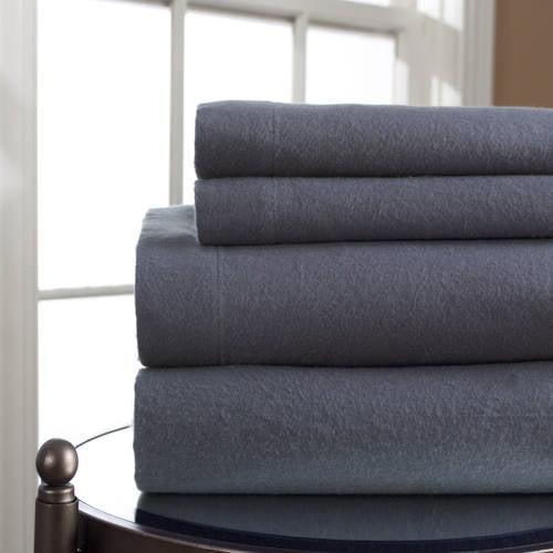 Elite Home Winter Nights Cotton Flannel Sheet Set